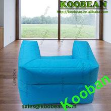 black faux leather ground shape beanbag sofa,bean bag chair,seat