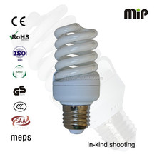 CE approved certificate full spiral 15W E27 6500K energy saving bulb factory