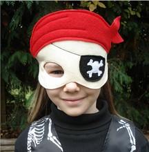 Cheap non-wolven halloween pirate felt mask