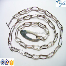 China jewelry professional manufacturer 316L stainless steel necklace jewelry long chain