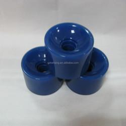 China wholesale dark blue polyurethane longboard or skateboard wheels,kick scooter wheels in 70x51mm