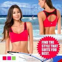 Hot sexy Ladies Wholesale Bra Polyester/Nylon Spandex Ladies Sexy Sports Bra HSG1148