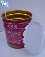 Round empty drum for water based paint