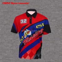 Quick fit mens shirt customize racing uniform