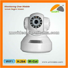 H.264 Pan Tilt WiFi IP Camera Megapixel Support IR-CUT, TF Storage, Motion Detection, Night Vision, Two-way Audio