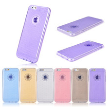 4.7 inch Ultra Thin Soft TPU Materail Good Touch Wholesale Color Mobile Phone Case dot view case for iphone 6