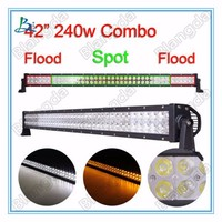 Dual Color Off-Road 41.5inch 240W Dynamic LED Light Bar amber/ white colour changeable