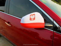 New design silk-screen printed car mirror cover with high quality