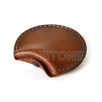 Real Leather Round Coin Pures and Headphones Case