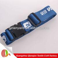 China manufacturer customized high quality light blue luggage fasten belt
