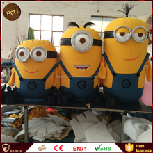 Hot sales Despicable me mascot costume / Yellow minion cartoon cosplay clothing.