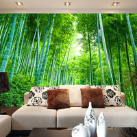 Natural bamboo wallpaper for home