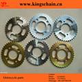 SAE 1045 transmisiones motocicleta CG150 cadena y kits de rueda dentada