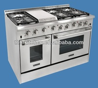 Free standing industrial gas stoves and ovens
