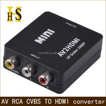 high quality av to hdmi converter box for hdtv upscaler 720P 1080P rca to hdmi converter box support oem mini av2hdmi converter