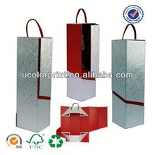 2014 u color 4 bottle wine carrier made in china