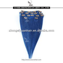ZSY colorful charming clip hair extension