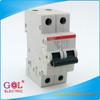 SH201L Plastic 6 to 63A 2P 3KA 4.5KA 6KA circuit breaker switch