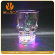 FDA grade LED plastic Halloween flashing cups,glow in the night water sensor LED flashing cups for Halloween promotion