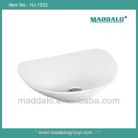 Modern Design Contemporary Countertop Thin edge leaf shape Wash Basin