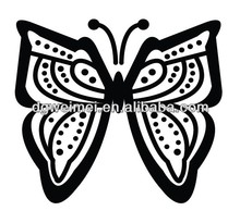 Butterfly night glowing fake temporary nape tattoo KB013