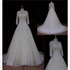 Floor length A line denim wedding dress