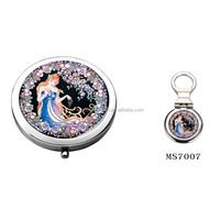 Wedding gift set beautiful cosmetic mirror & key chain
