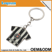 2015 promotional souvenirs custom keychain maker football t-shirt key chains