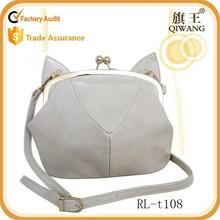 Guangzhou Manufacture lady Messenger Cross Body Shoulder Bag cat style cute bag