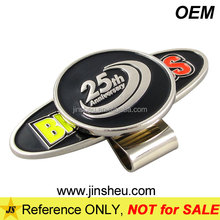 High Quality Custom Made Enamel Colored Metal Golf Cap Ball Mark Clip