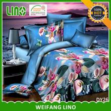 3d printing duvet cover set/polyester disperse 3d quilt cover set/fleece duvet cover