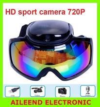 720P Ski Sport glasses video camera Goggles Sunglasses DVR,goggles DVR camera 12M Pixel resolution HD COMS ski camera recorder