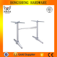 Wrought iron garden furniture aluminum die casting for glass table top