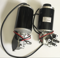 76mm 12V 24V high torque low speed dc worm gear encoder for elevator door motor