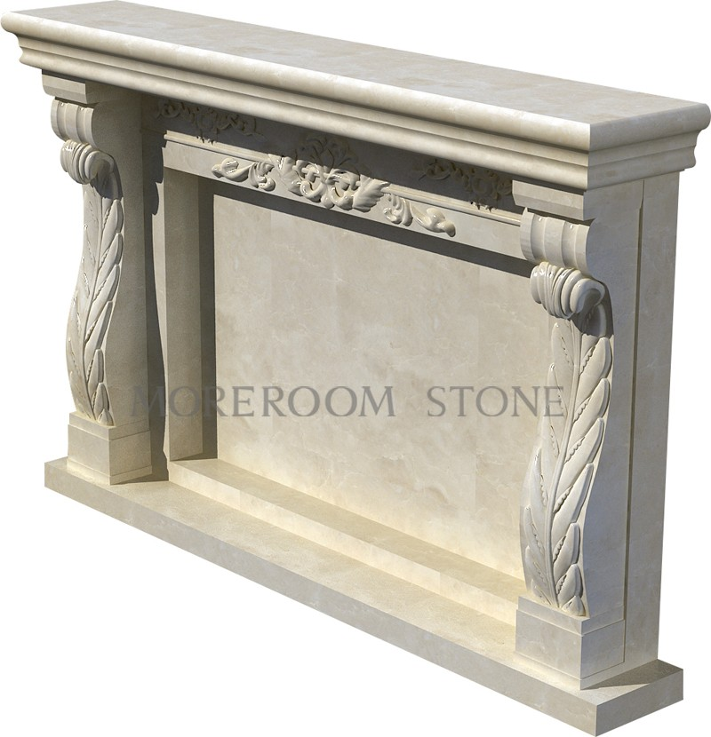 WL-BL005 Moreroom Stone Natural Marble Finished Marble Product Natural Stone Marble Fireplace.jpg