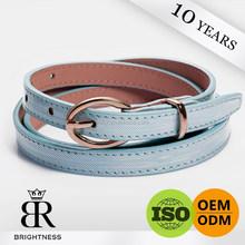 Blue brand newest designer leather belt for jeans H1-80015