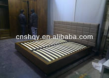 Modern double beds with pu headboard high quality