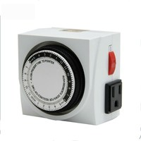 Hydroponics German 24hrs Daily Mechanical timer switch battery powered timer