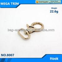 Hot! Wholesale Metal Snap Hook 22.6g light gold metal snap hook/buckle 34mm*62mm