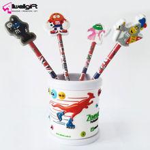 3D plastic cute popular brush pot pen holder for .promotion gift