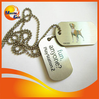 Custom Human Metal Dog Tag with logo engrave