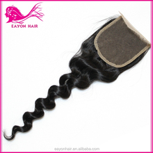 Peruvian Lace Closure Free/Middle/Three Part Available Cheap 6A Peruvian Virgin Hair Loose Wave Lace Closure