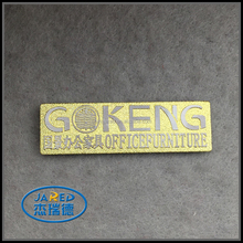 Free Sample Gold Color Custom Design Metal Embossed Aluminum Label Used for Furnitures