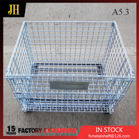 Wholesale China Factory Folding Wire Metal Storage Container