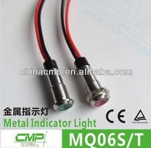 CMP waterproof 6mm led metal indicator pilot 12v 24v 110vac 120vac 220vac