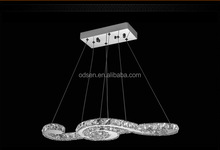 artistic design factory-outlet crystal ceiling lamp hanging pendant light
