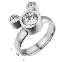 Dongguan factory custom fashion stainless steel lovely animal shaped rings MXRI70003