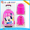 Two Mesh Pockets Miny Cartoon American Style Detachable Trolley Book Bag