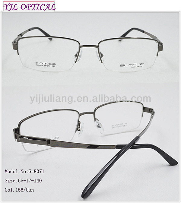 2014 Fashion Men Optical Frames Titanium Trial Frames ...