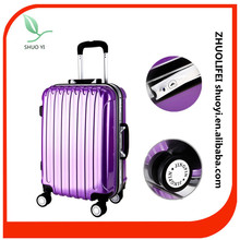 Cheap aluminum travel luggage case abs pc luggage